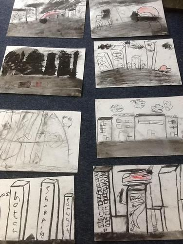 Year 2 have made some fantastic charcoal drawings