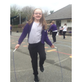 In Outdoor PE, we took part in a skipping challenge for National Skipping Week!