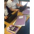 We used our new Winbooks to practise our timestables and help us with our Topic work!