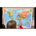 Using a world map to locate mountains