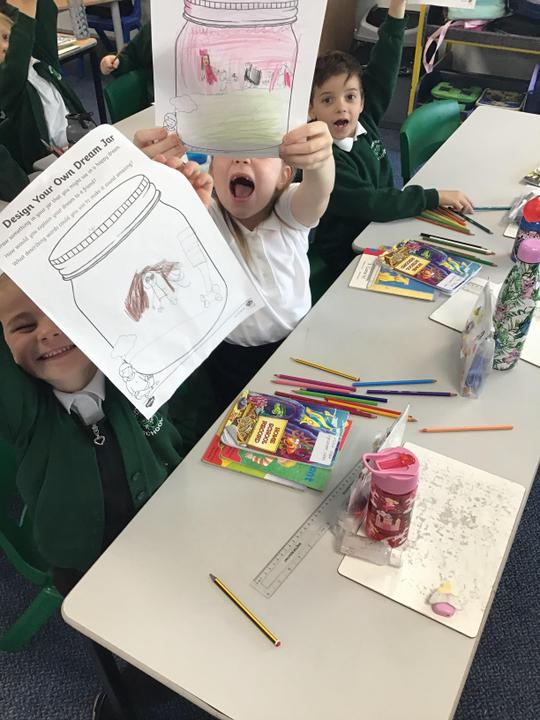 We looked at the values of Martin Luther King and then created our own 'dream jars'.