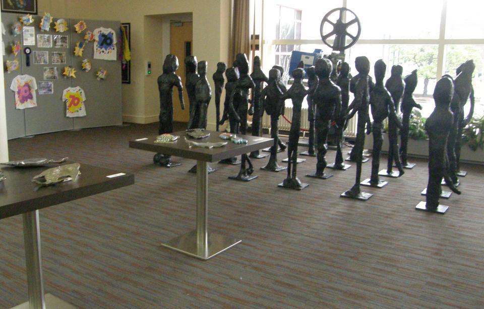 Noak Bridge's amazing Giacometti style sculptures