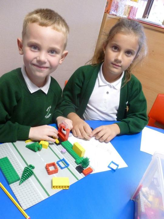 We are making a house with a round window.