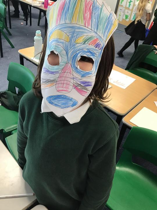 We had a great time creating our own African masks. We then created an African dance.