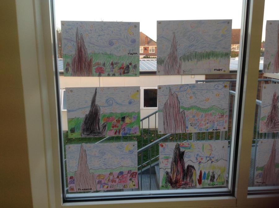Year 2 created some wonderful art work during our Hooked on History day
