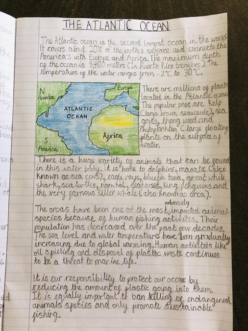 A well presented report written by Maanya.
