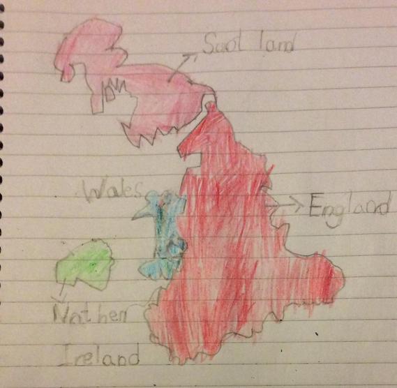 UK map - 1 Peacock