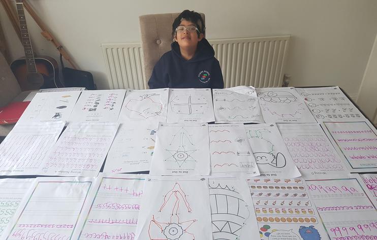 Aman has been working very hard!