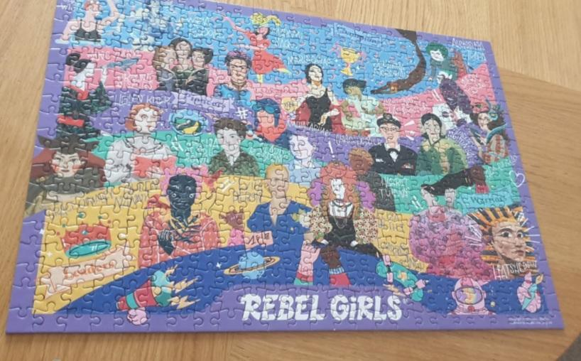 Rebel Girls puzzle completed by Alyssa