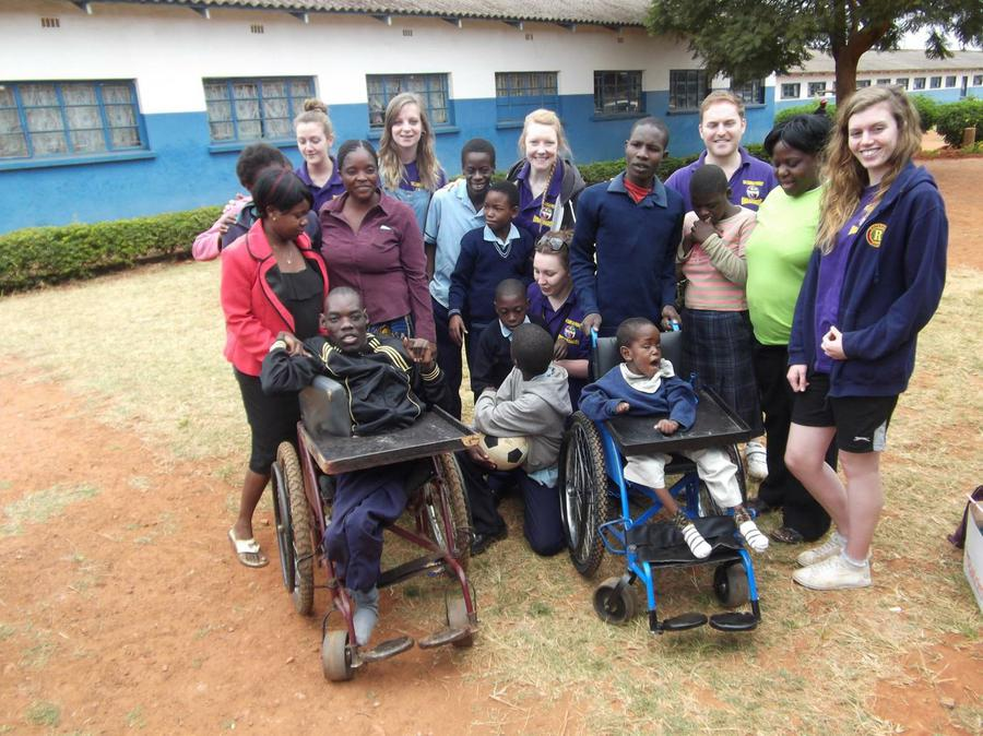 UK charity workers with special needs children.