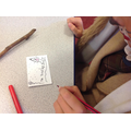 We made badges with our 'Roald Dahl Names'.