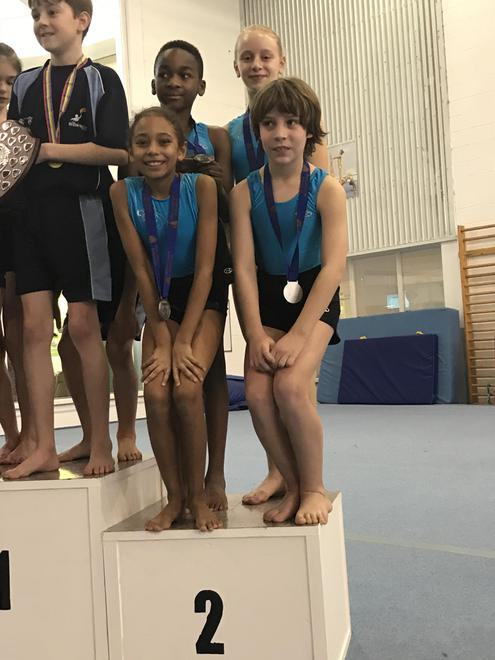 Year 5 and 6 Gymnastics Competition runners up.