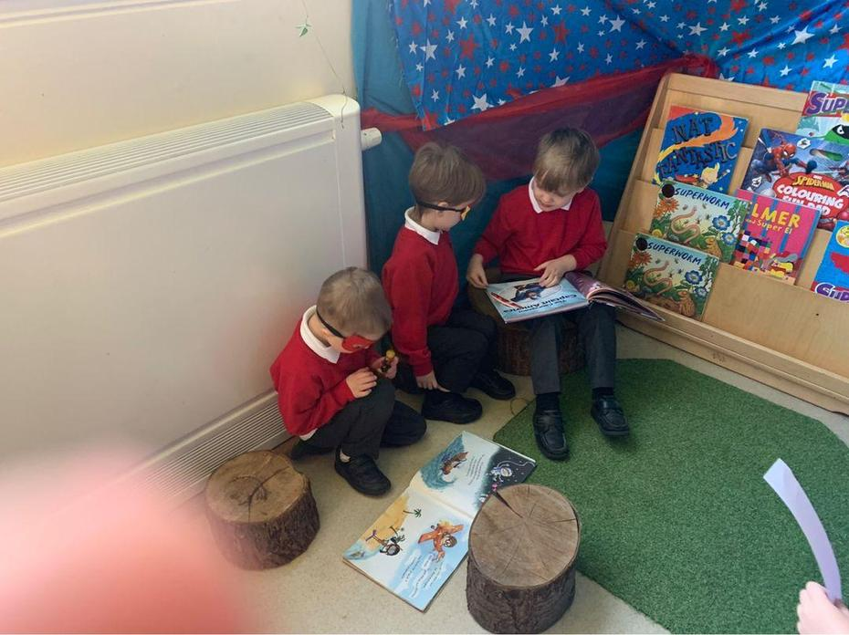 Reading with our friends
