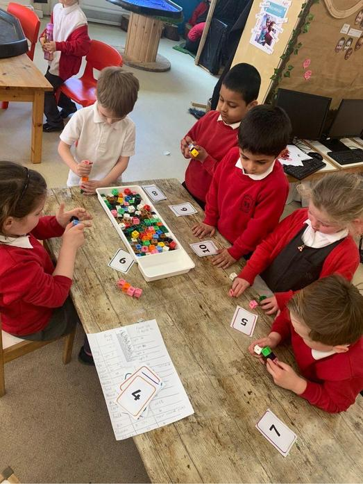 Counting sets of objects to 10