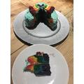 Toby's rainbow cake