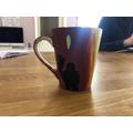 Flora's art project mug