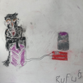Rufus's artwork inspired by Banksy