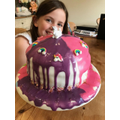 Becky's rainbow unicorn cake