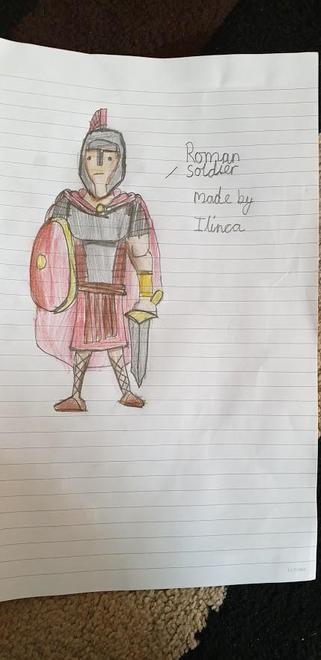 Ilinca's Roman Soldier