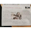 Year 5 looked at Martin Luther King.