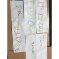 We practised writing our names in Greek!