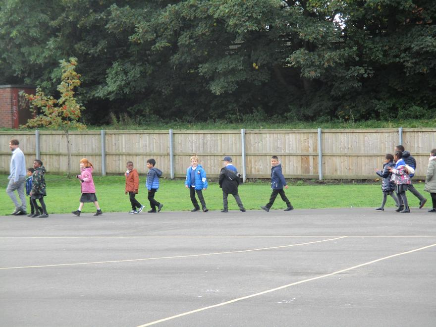 Children discussed the benefits of walking