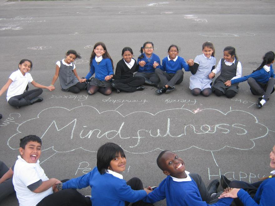 Year 4 spent time discussing what mindfulness is.