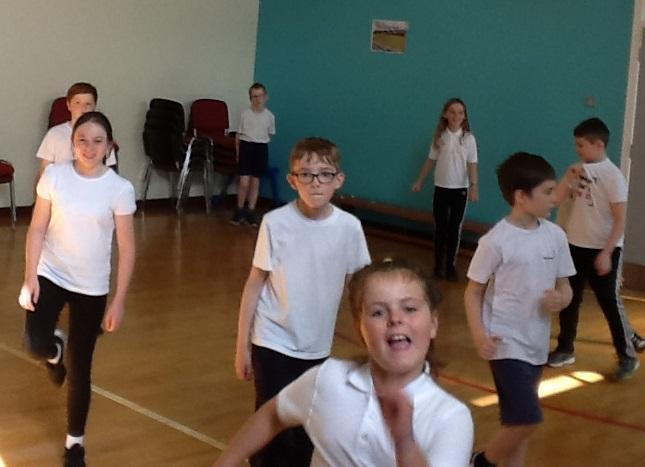 Our first PE lesson!