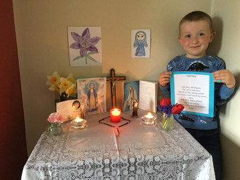 Pauric's beautiful May altar