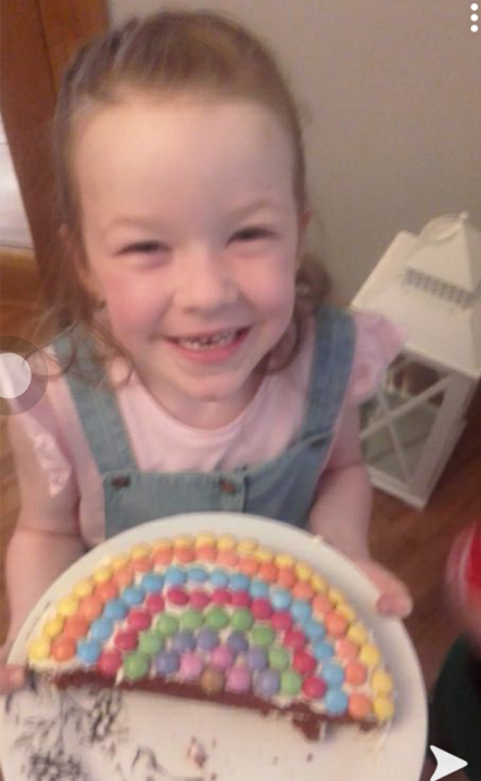 Katie's lovely rainbow cake