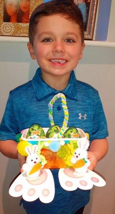 Easter basket craft.