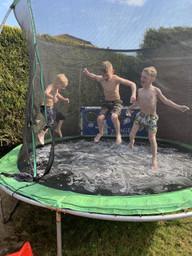 Water fun in the trampoline!