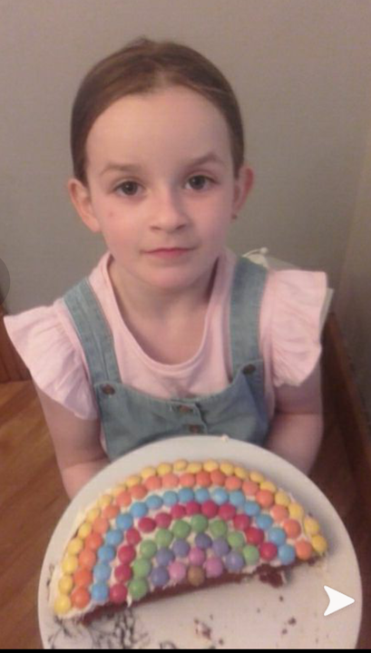 Kara's lovely rainbow cake