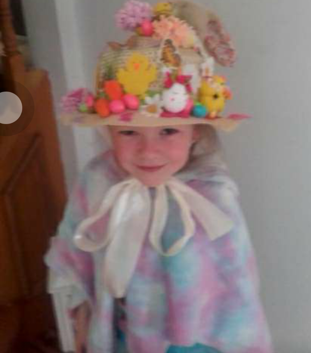 Katie's beautiful Easter bonnet