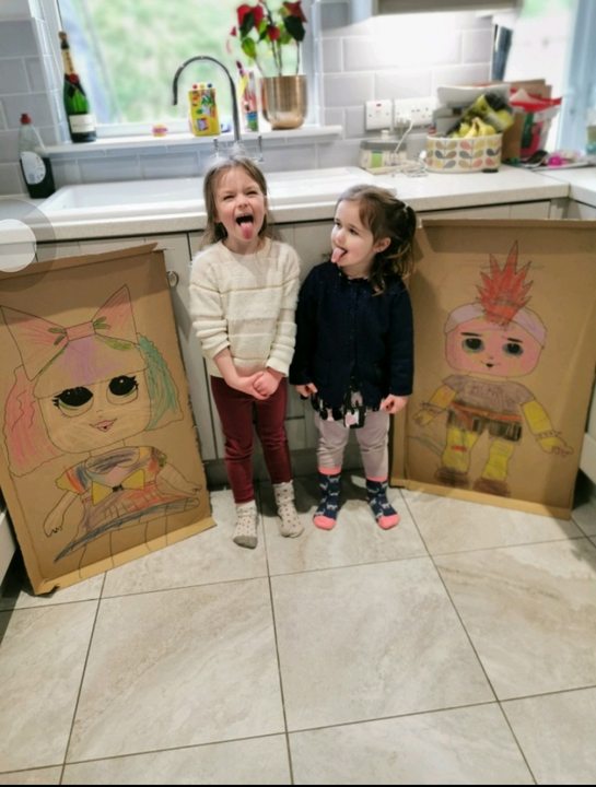 Look we made cardboard LOL dolls