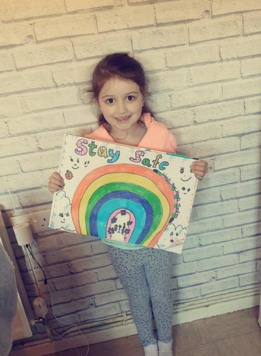 Rainbow of hope.