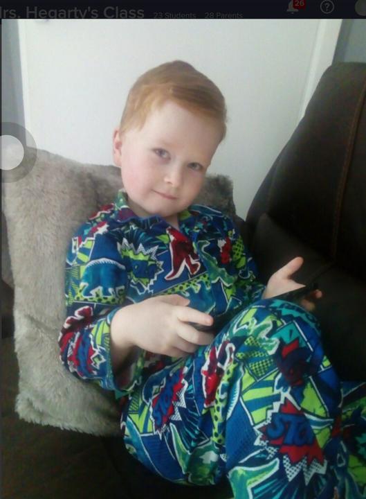 Thomas in his pjs for Pyjama Rama!