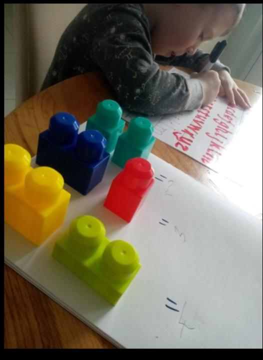 Working hard on letter formations