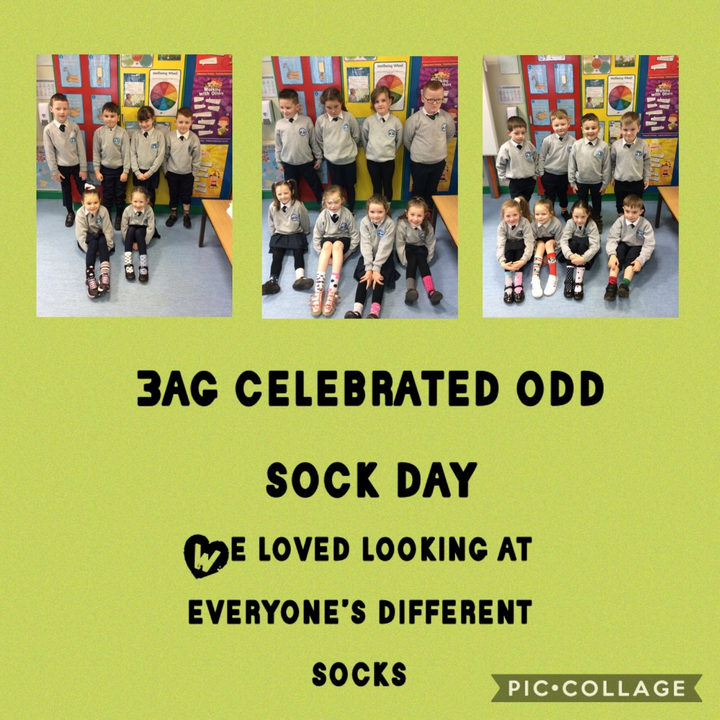 We celebrated Odd Sock Day to show that everyone is unique and different.