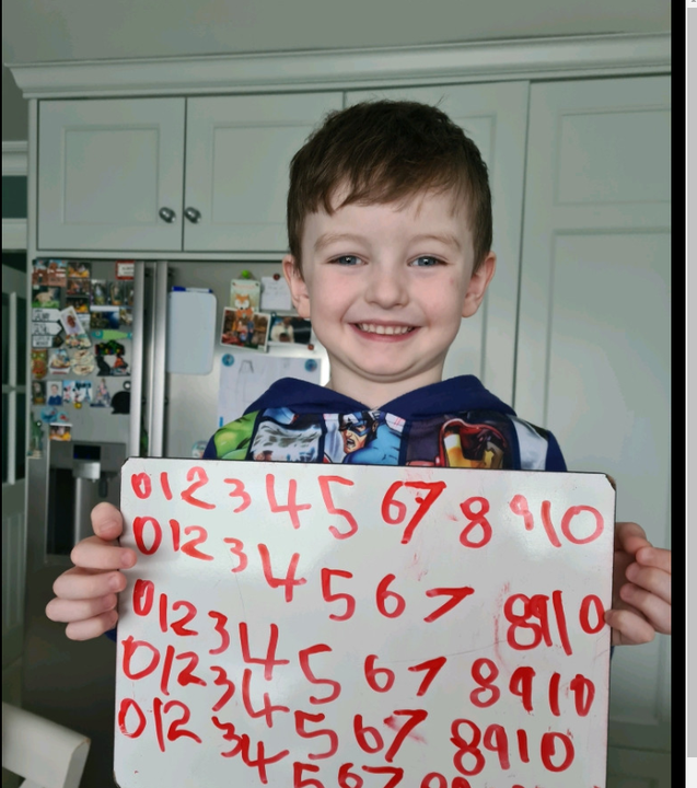 I can write my numbers!