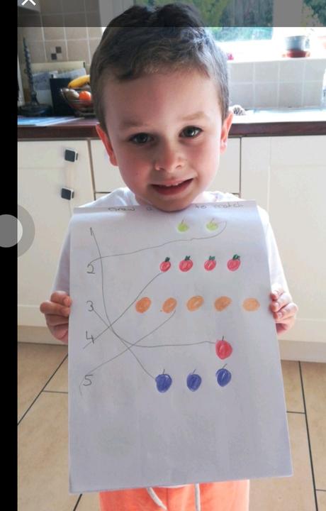 Oscar counted the fruit