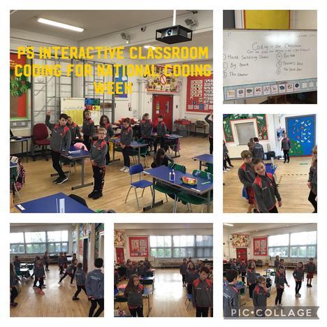 Primary 5 enjoying an offline coding activity