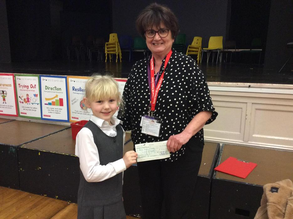 We handed over a cheque for £648.06