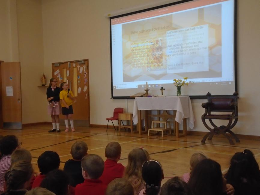'Look after our bees' assembly by the Eco Warriors