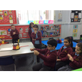 The children used drama to retell the story.