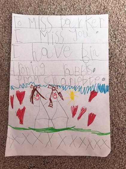 Charlotte's letter to Miss Barker