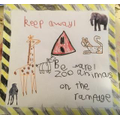 Gregory's zoo animal poster