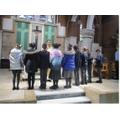 Fr Gideon blesses the Chaplaincy Team