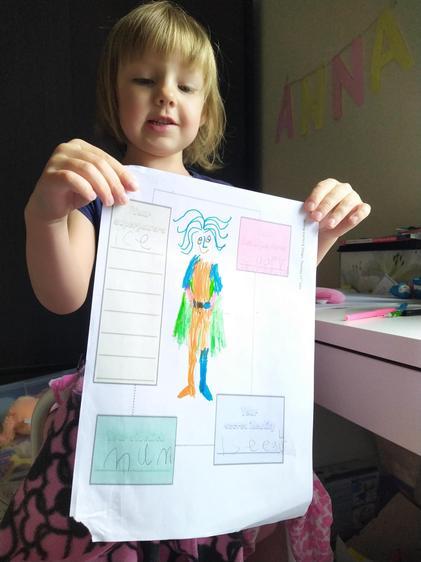 Designing a superhero!