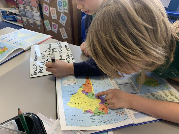 Finding  countries in South America